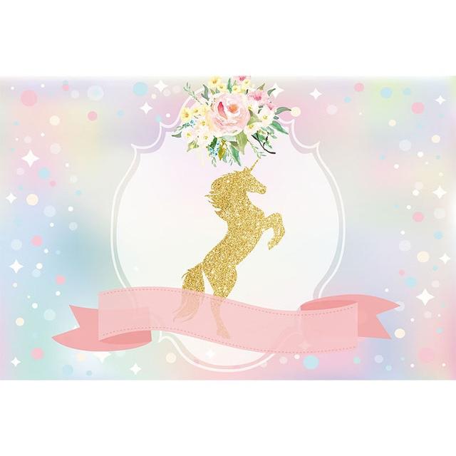 Bokeh Lentejuelas Luna Cielo Cinta Unicornio Flores Fotografía Telón