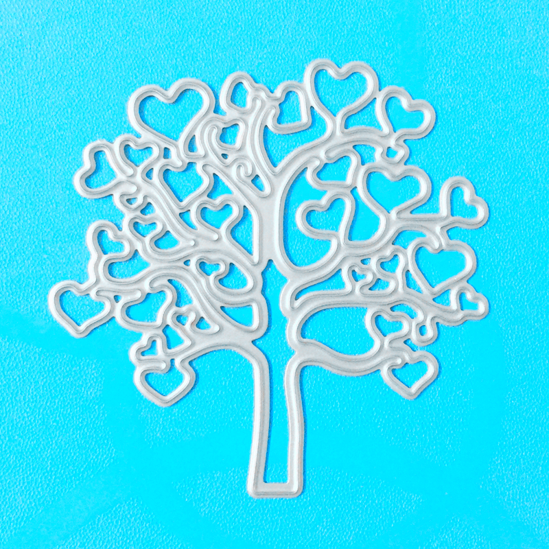 YLCD035 Love Tree Metal Cutting Dies Scrapbooking Stencils DIY Cards Album Decoration Embossing Folder Die Cutter Template Mold