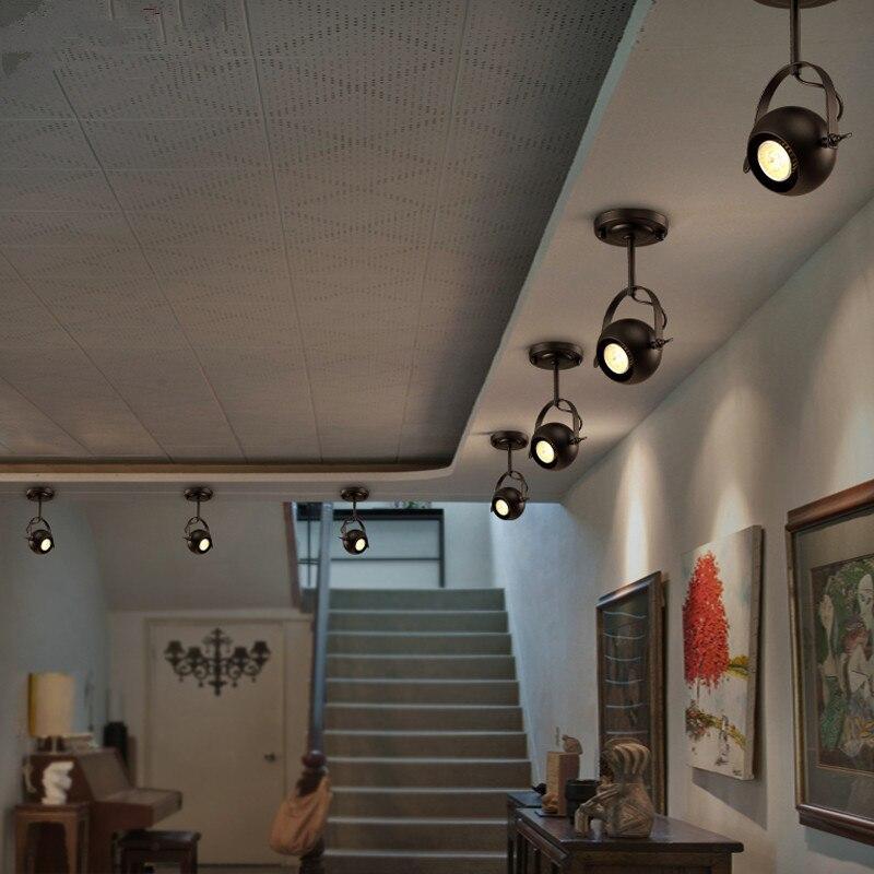 Vintage Plafonniers Led Spot éclairage de Plafond Lampe loft magasin