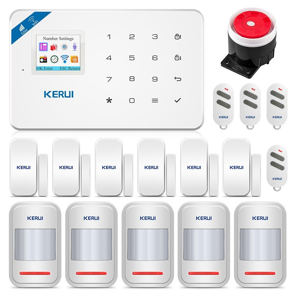KERUI W18 WiFi Senza Fili di GSM di Sicurezza Domestica Sistema di Allarme Antifurto Allarme Kit ios Android APP Controllo Con Il Regolatore A Distanza