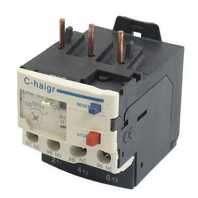 3 Pole AC 0.63A - 1A Electric Thermal Overload Relay 1 NO 1 NC dhl ems 5 sests new schneider thermal overload relay lrd32c 23 32