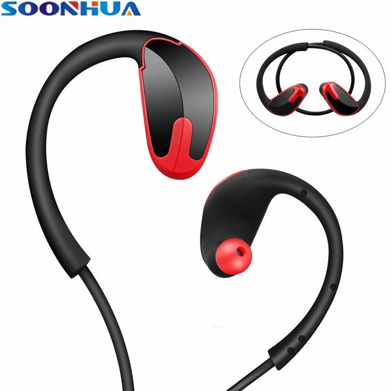SOONHUA R8 Sweatproof Headphones Bluetooth 4.1 Wireless Sports Earphones Super Bass Earbuds Fone de ouvido Headset with MIC