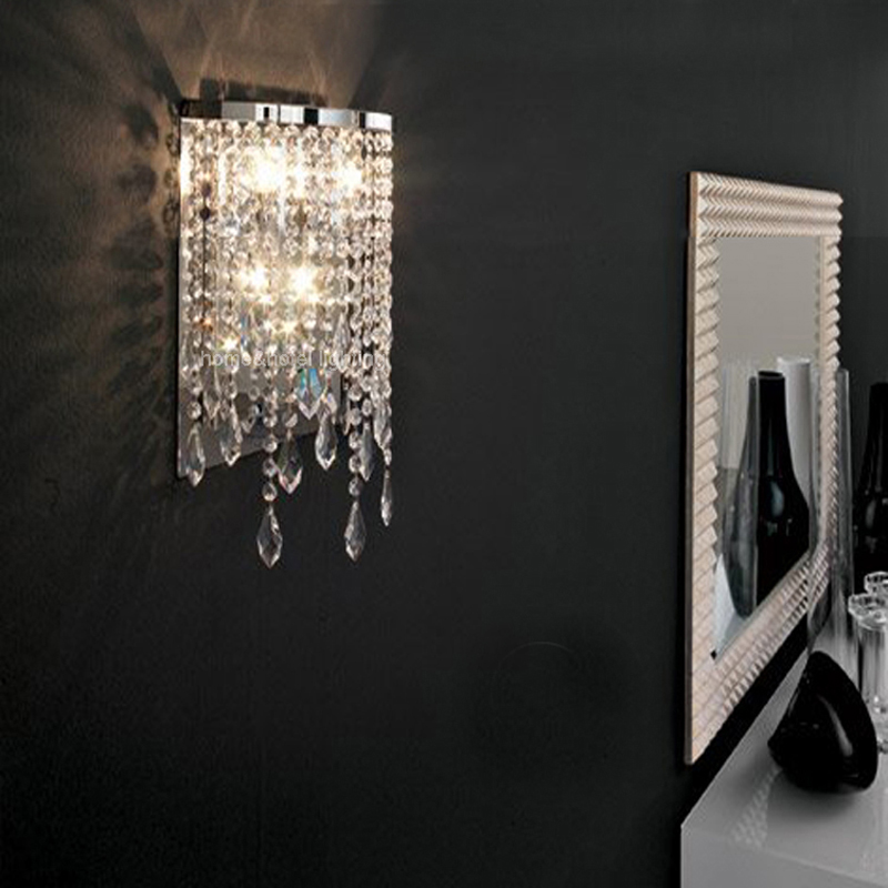 Mirror Front Corridor Hallway Wall Light Led Crystal Wall