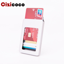 Cizicoco New Credit Card Holders RFID Aluminum Box Wallet Fashion Casual Case Solid Metal High Quality Wallets