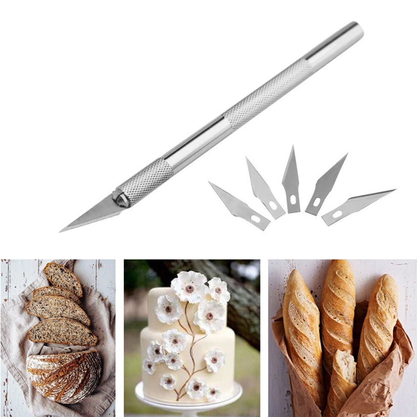 Sculpting Gum Paste Carving Baking Pastry <font><b>Tools</b></font> 6pcs Blades Knife Fruit <font><b>Fondant</b></font> <font><b>Cake</b></font> <font><b>Decorating</b></font> <font><b>Tools</b></font> image