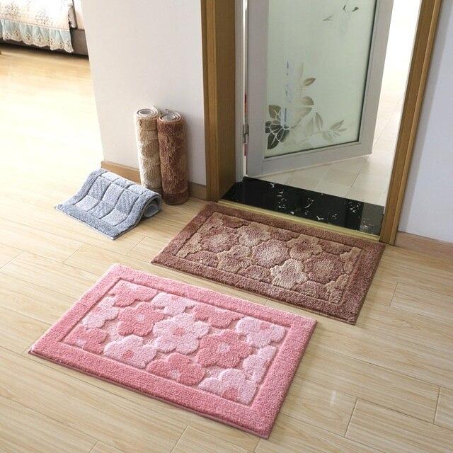Flower Home Decor Floor Carpets Bath Rugs Non Slip Toilet Mat Doormat Bathroom