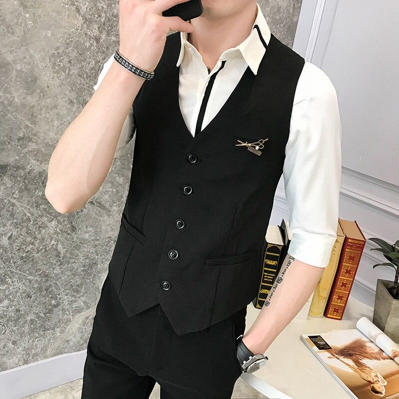 slim fit Chaleco de vestir de hombre