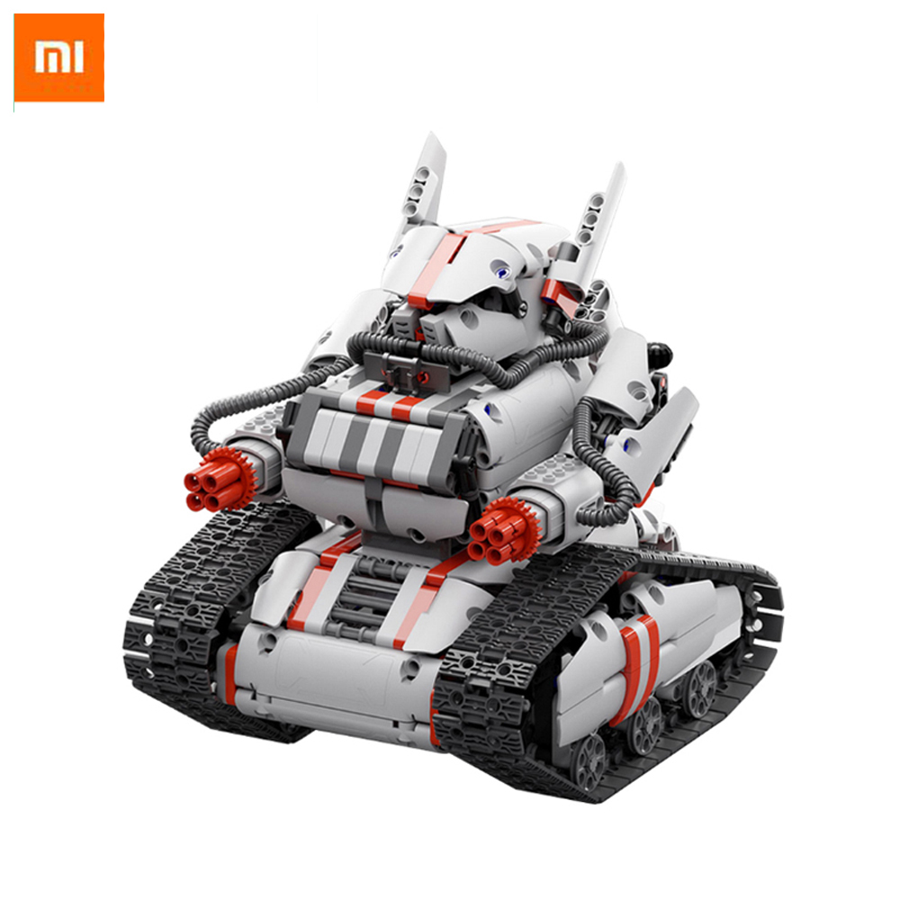 Original Xiaomi Mitu Robot Tank Mecha Crawler Base Mitu Building Block Robot Crawler Tank Version Controll By Smartphone Mihome xiaomi mitu intelligent story robot fairy tale happy children s songs english enlightenment rabbit brinquedos educativos