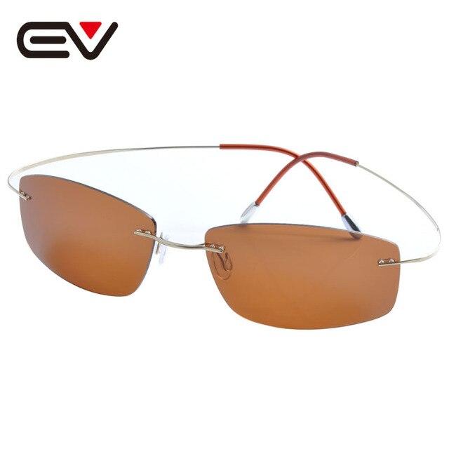 Fashion Men Women Titanium Rimless Coating Polarized Sunglasses Brand Designer Sport Outdoor Sun Glasses  oculos de sol EV1359