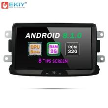 EKIY 8 »android 8,1 Octa Core автомобильный мультимедийный плеер для RENAULT DUSTER ZEN LOGANII Каптур Лада XRAY gps навигационная система, стереомагнитола радио Wi Fi