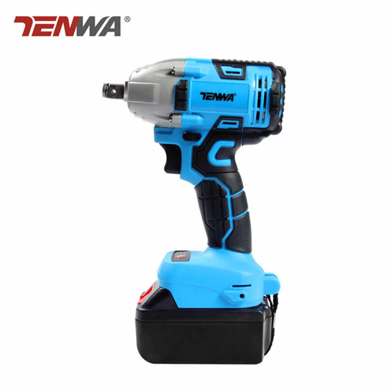 TENWA 2 Colors Impact Wrench 21V Brushless Electric Impact Wrench Variable Speed Cordless Rechargeable Electric Impact Drill