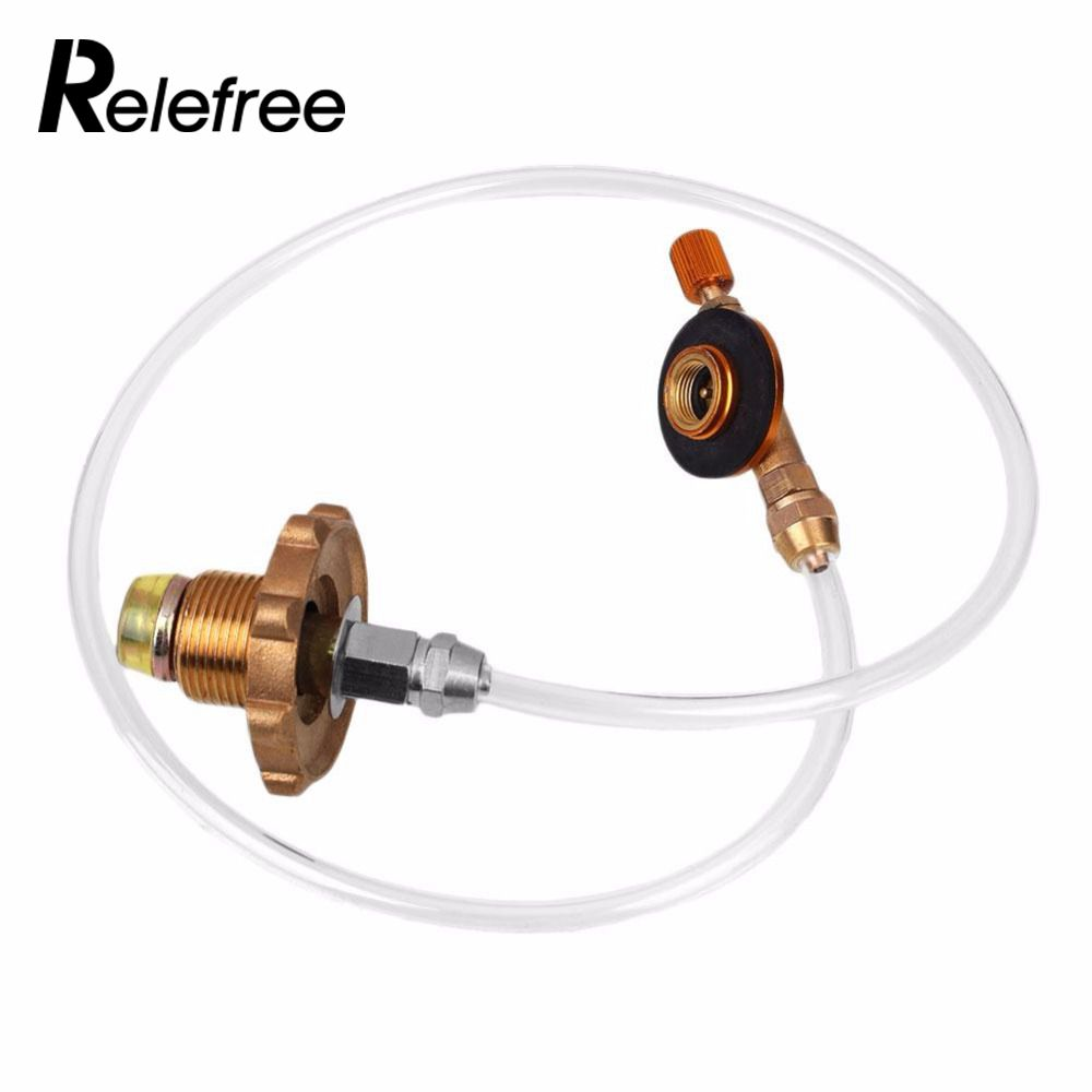 relefree Portable Camping Refill Adapter Gas Stove Cylinder For BBQ Grill Outdoor
