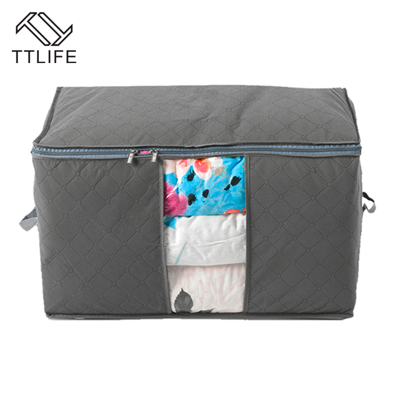 TTLIFE foldable Bamboo Charcoal Fibre Storage Bag Box Case Clothes ... : quilt storage bags - Adamdwight.com