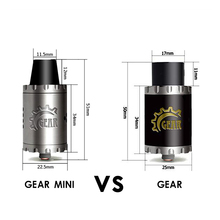 Vaporizer Authentic Cigreen Gear RDA Mini 22mm diamiter Rebuildable Dripping Atomizer electronic cigarette accessories