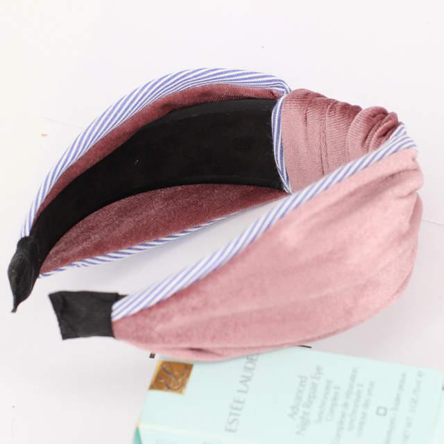 placeholder DPSaiLYY 3 PC Women Top Knot Headband Black Blue Nylon Turban  Headbands for Women Winter hairband 405cab18d176
