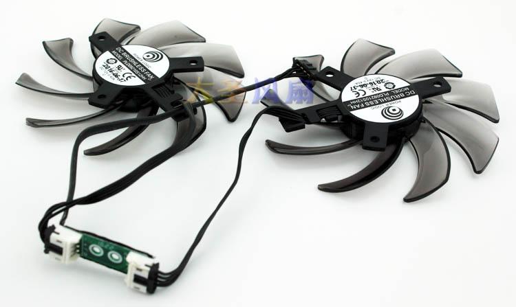 Original for GEFORCE GTX1060/1070 Graphics card cooling fan PLD09210S12HH 12V 0.4A GA91S2U