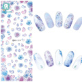 Rocooart DS219 DIY Nail Water Transfer Nails Art Sticker Purple peony Flowers Nail Wraps Sticker Watermark Fingernails Decals