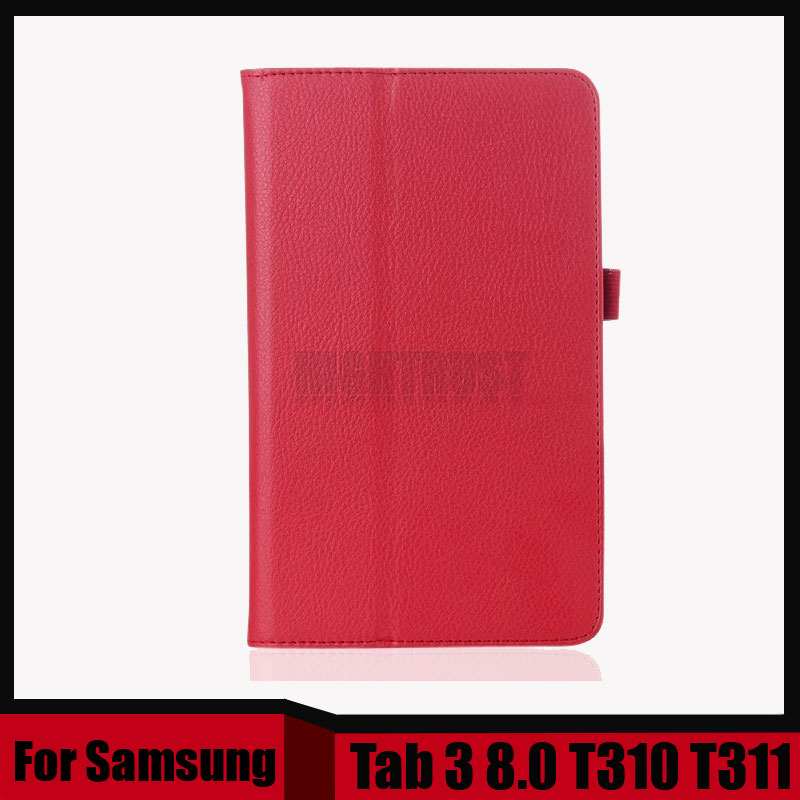 3 in 1 new style Pu leather case for samsung galaxy tab 3 8.0 inch T310 T311 + Screen Film + Stylus Pen