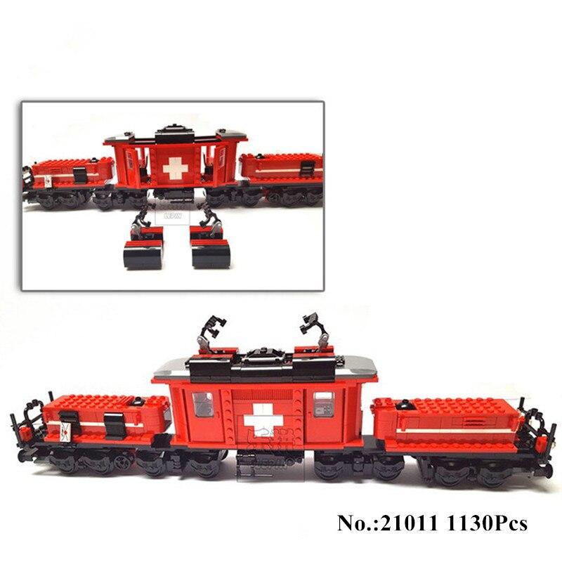H & HXY 21011 1130 pcs Technique Série Le Médical Changer Train Ensemble Enfants Éducatifs Blocs de Construction Briques Lepin Jouets cadeaux
