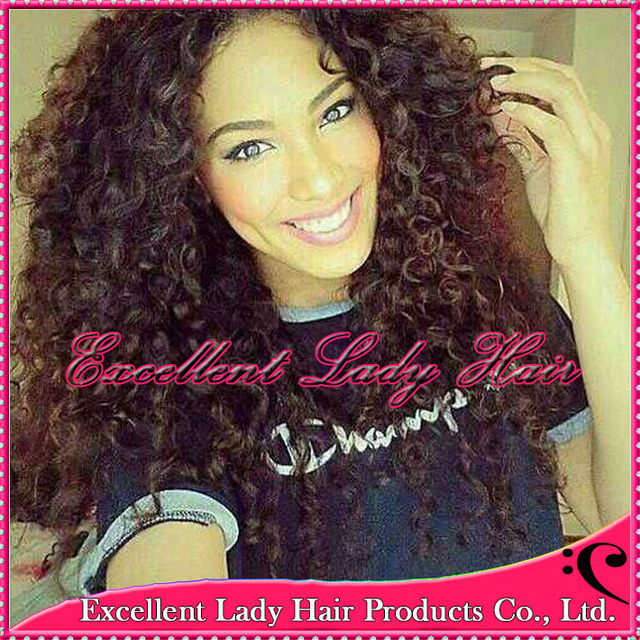 High Quality Glueless Natural Black Color U Part Curly Hair Wigs ...