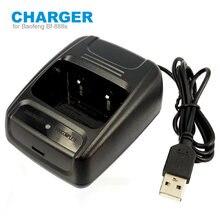 USB Carregador de Bateria Li-ion para Baofeng BF 888s Bf-888s Walkie Talkie Rádio em Dois Sentidos Acessórios Carregador USB