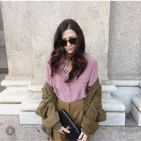 100% silk blouse shirt chiffon blusas women office lady high quality white beige red pink oversized runway blouse shirt 2018 new