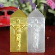 No. L1032 церковная свеча, силиконовая форма для мыла Иисуса, силиконовая Свеча для шоколада, форма для украшения торта