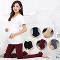Primavera Antumn Calças Leggings Maternidade Roupas para Mulheres Grávidas Gravidez Quente Malha Cintura Alta Suspender Calças B146