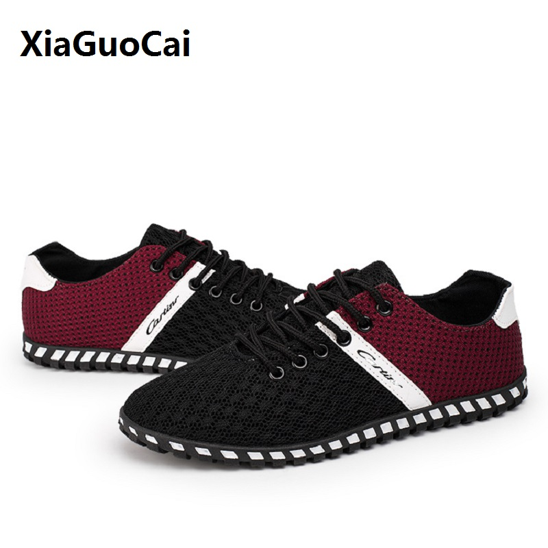 Mesh Summer Man Casual Shoes Breathable Wear Resistan Rubber Light Flat with Mixed Colors Lace-up Male Fashion Zapatillas Hombre new fashion men shoe genuine leather lace up mixed colors man dress business casual shoes zapatillas deportivas zapatos hombre page 5