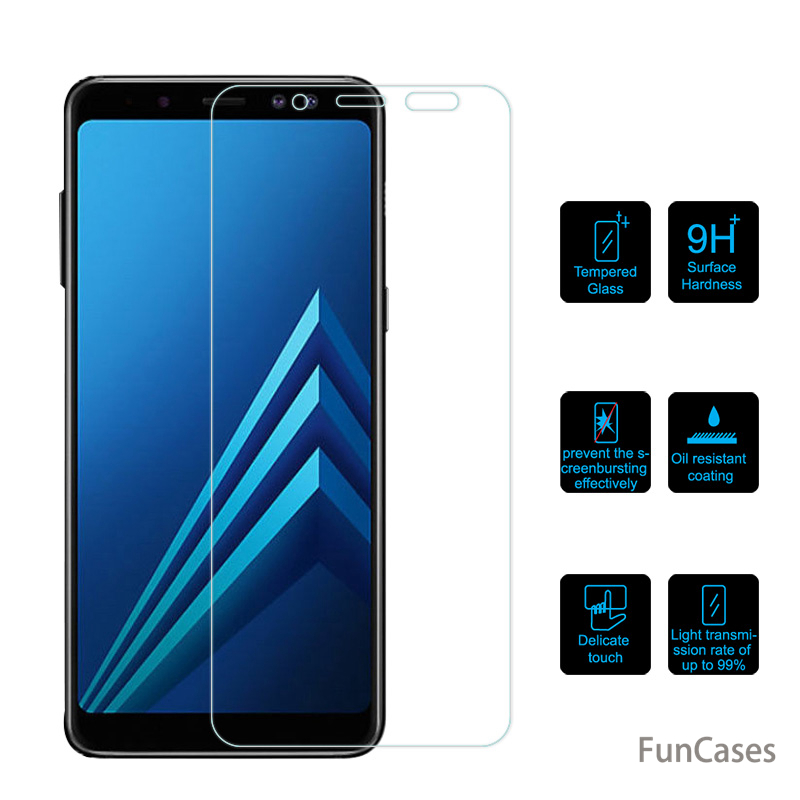 for Samsung Galaxy A6 A8 Plus J4 J6 Tempered Glass for Samsung Galaxy A3 A5 A7 J3 J5 J7 2017 2016 2018 Case Screen Protector image