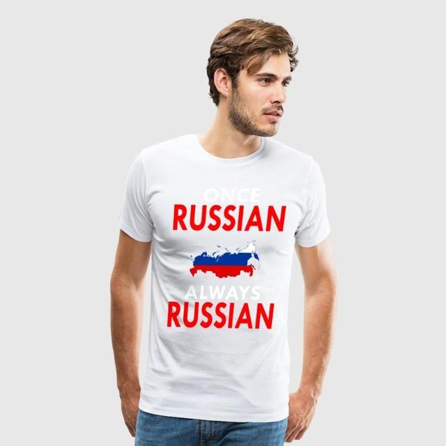 once russian always russian customized print handmade funny phrases