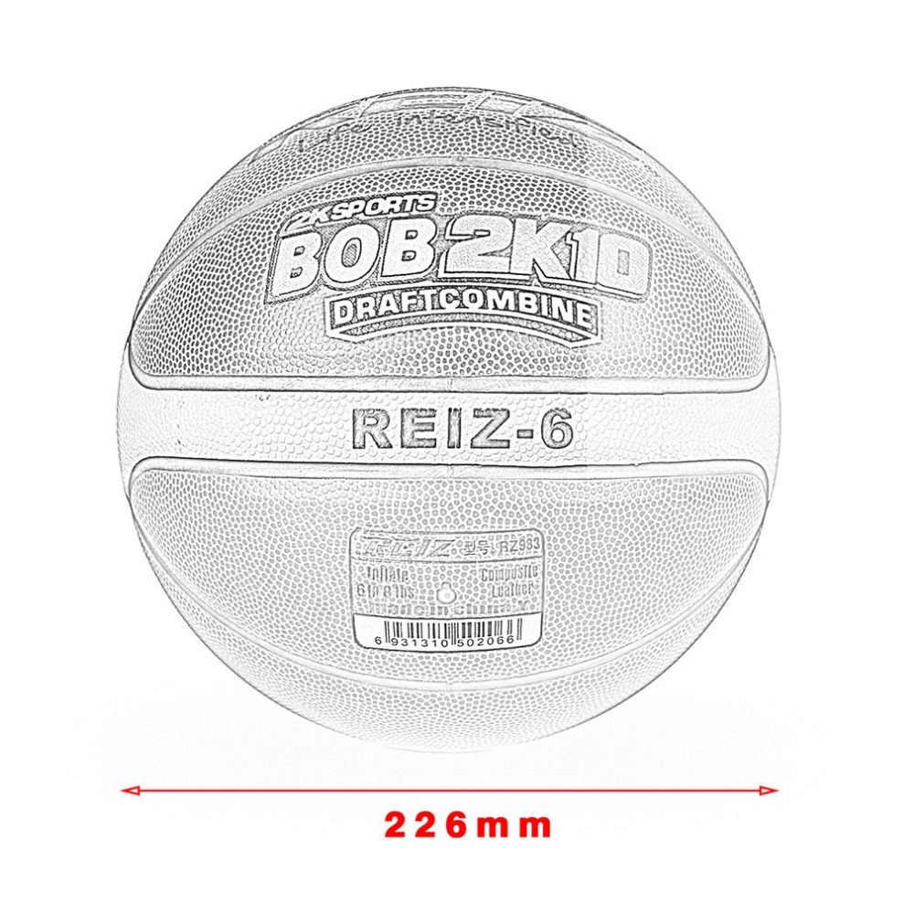 REIZ Alta Qualidade Tamanho 6 Cesta de Bolas De Basquete Ao Ar Livre Indoor Formação Mens de couro Bola de Basquete competição prática