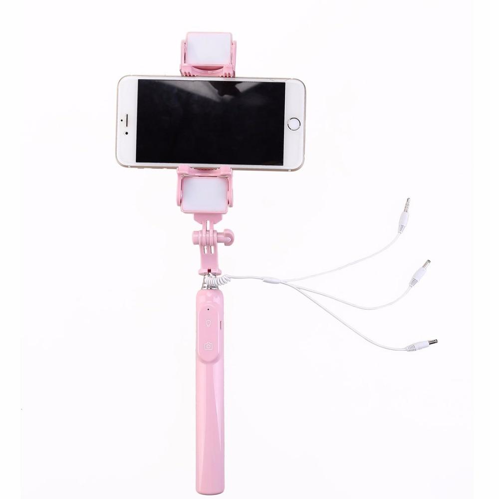 Mini dilanjutkan pegang tangan monopod berwayar cermin diri sendiri - Kamera dan foto - Foto 3
