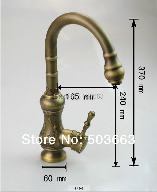 OUBONI Fashion Kitchen Antique Brass torneira Deck Mounted Single Handle Mixer Brass Basin Sink Ceramic Bathroom Faucet Tap kitchen 97152 retro design bathroom vessel sink mixer faucet single handle deck mounted basin faucet antique brass torneira