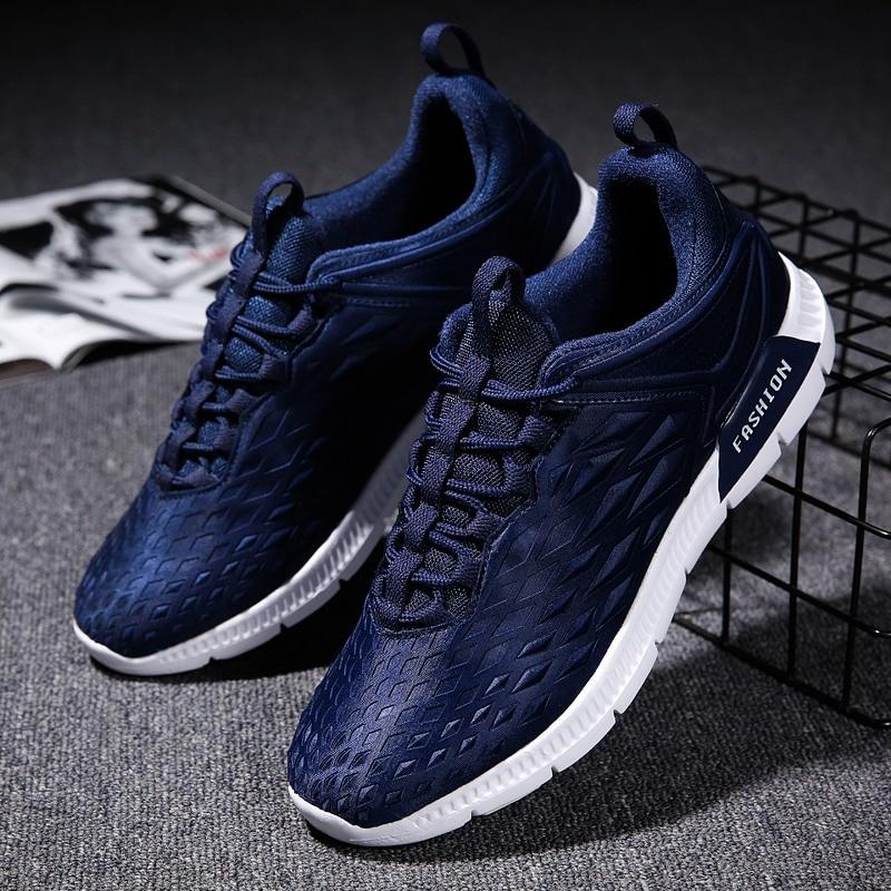 Homme Hommes blue À Black gray Occasionnels Appartements Chaussures Air De Respirant En Sneakers L'usure Chaussure Mode Plein Résistant Vogue Pour Yb7gy6f