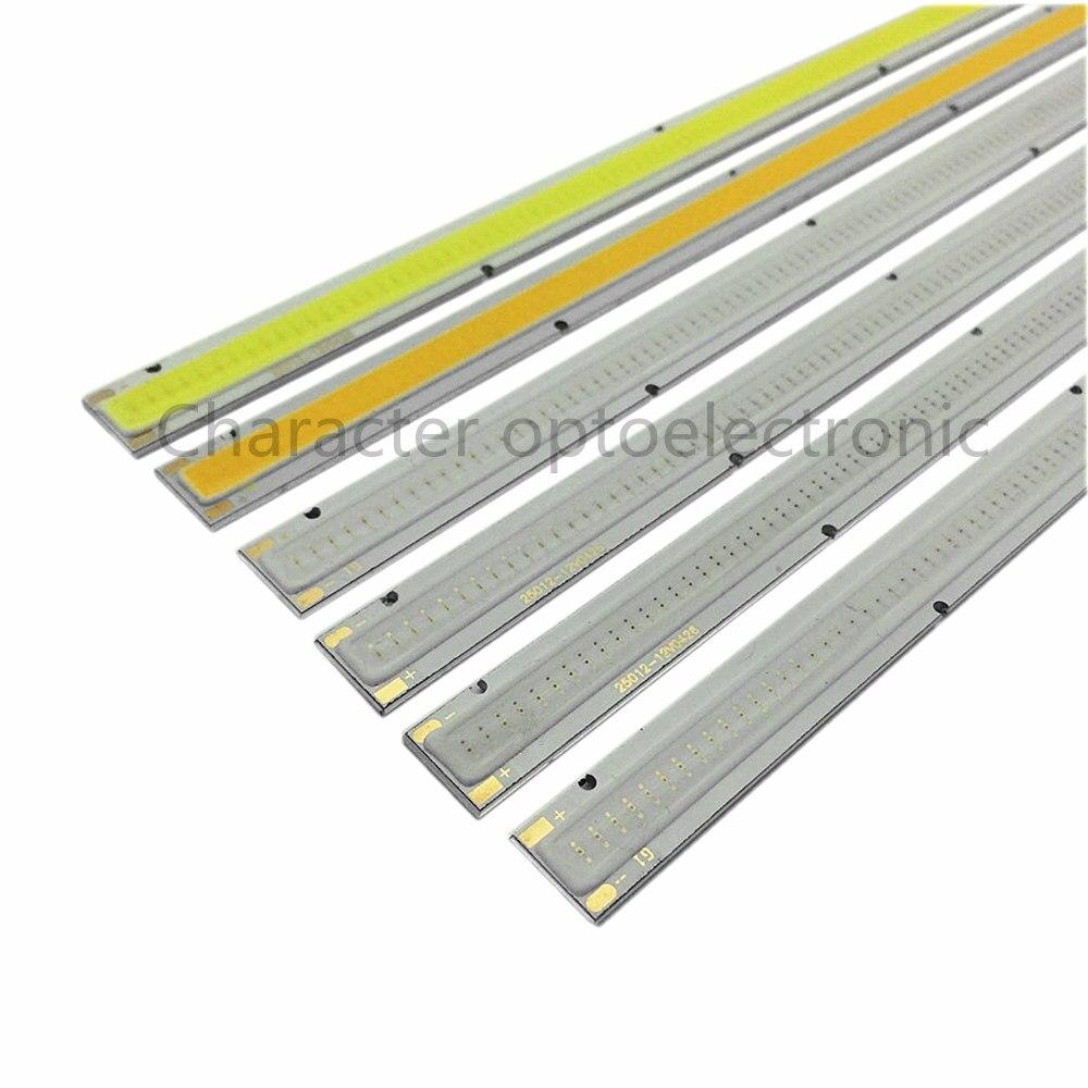 Купить с кэшбэком LED COB 200*10mm 12v 10W Warm Nature White Blue Red Green Yellow for  light DIY cob led Strip BULB light source