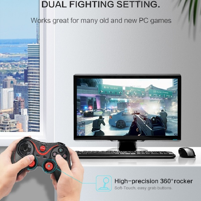 DATA FROG Wireless Game Controller Joystick With OTG For PC Gamepad Universal 2