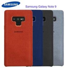 Samsung Note 9 przypadku oficjalna oryginalna prawdziwa skóra zamszowa wyposażone Protector obudowie/etui do Samsung Galaxy Note 9 przypadku Galaxy Note9 pokrywa