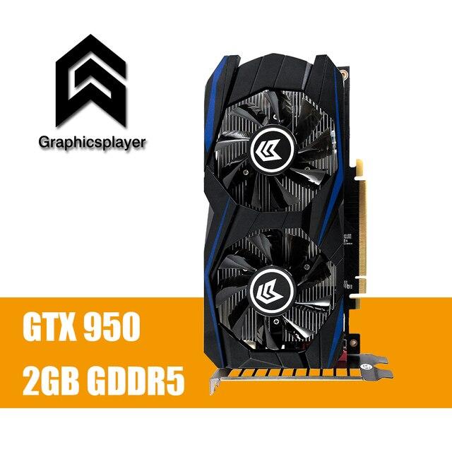 Scheda grafica GTX 950 2GB 2048MB DDR5 128Bit carte graphique Scheda Video per Nvidia GTX PC