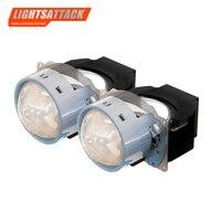 LIGHTSATTACK 3 inch 36W 5000K Bi LED Lens Headlight Auto Projector H4 H7 9006 LED Light Retrofit Kits Car Motorcycle Headlight