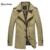 2016 Homens Marca Jaquetas Trincheira dos homens Vestuário de Moda Slim Fit Casual Coats Outono & Inverno Plus Size Além de Boa Qualidade tamanho