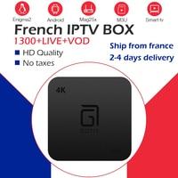 Best GOTiT S905 1G8G 2G16G France Arabic NeoPro IPTV Subscription 1300Live+2000VOD Amlogic S905W WiFi Android Smart TV Box