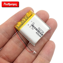 37V400mAH582728 polymer lithium ion Li-Po Rechargeable battery for SMART WATCHGPSmp3mp4cell phoneDVDBLUETOOTH SPEAKER