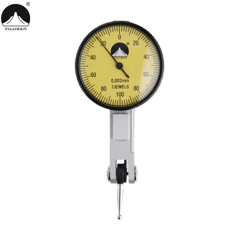 FUJISAN Dial Indicator 0-0.2mm/0.002mm Mini Dial Gauge Lever Test 7 Jewels Measuring Tools monitoring the lever signal lever indicator rod