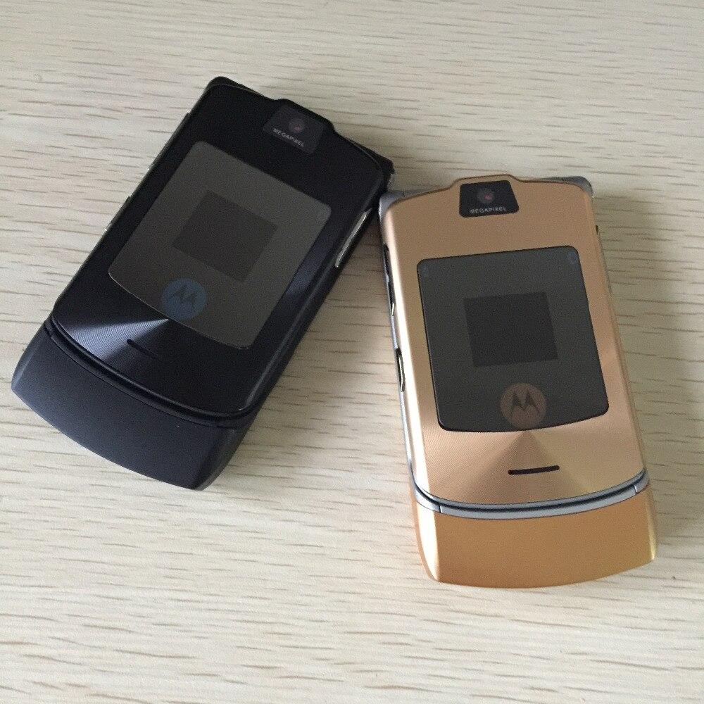 100% débloqué Original Motorola Razr V3i Flip GSM Bluetooth MP3 quadri-bande Mobile téléphone portable remis à neuf livraison gratuite - 4
