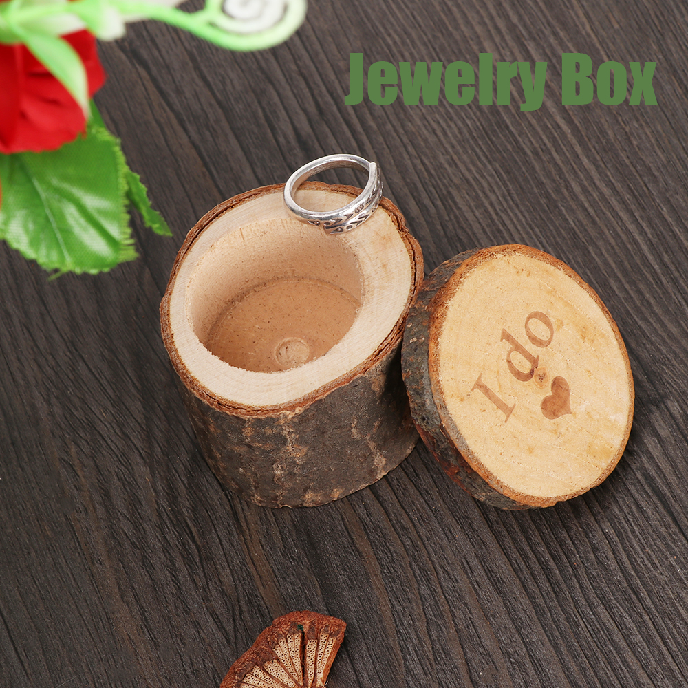 New Fashion Wooden Rustic Shabby Chic Wedding Ring Box Bearer Ring pillow