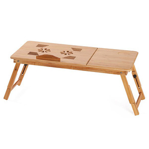 Image 4 - MAGIC UNION Portable Folding Bamboo Laptop Table Sofa Bed Home Laptop Stand Computer Notebook Desk Bed Dining Table Plus Size