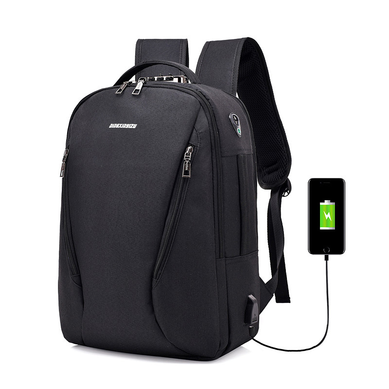 Anti-thief Backpack Teenages School Bags USB Charging Laptop Bagpack for Travel School with Headphone Jack Office Work Bag