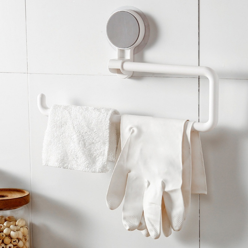 2019 Seamless Suction Cup Kitchen Household Roll Holder Multi function Rack Free Punching Bathroom Kitchen Towel Rack in Racks Holders from Home Garden