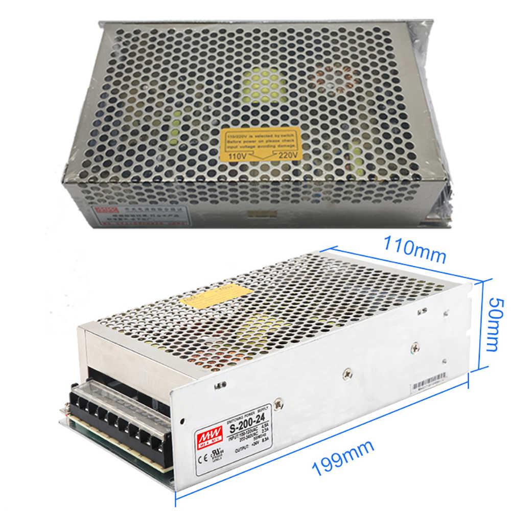 3X NEMA23 57mm 2.2Nm DC24-60V zamknięta pętla silnik krokowy napęd enkodera kabel 3M 200W zasilacz łatwe zestaw serwo dla routera tokarka